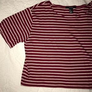 Red Forever 21 Crop Top